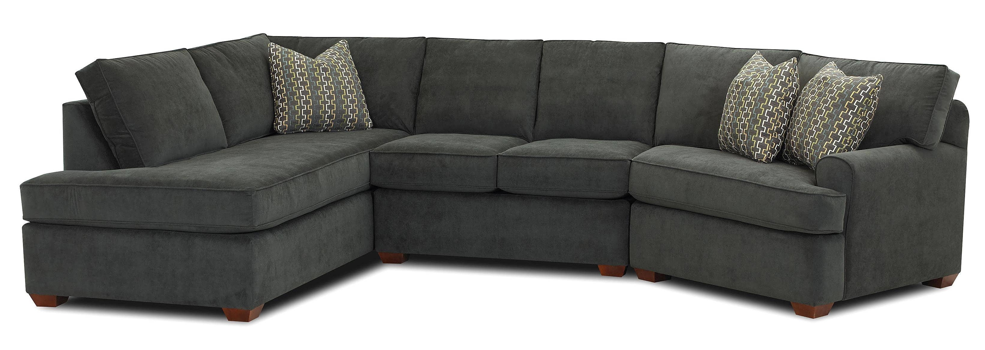 Best And Newest Sofa : L Sectional Couch Double Chaise Sectional L Shaped Couch With Regard To Gray Chaises (View 6 of 15)