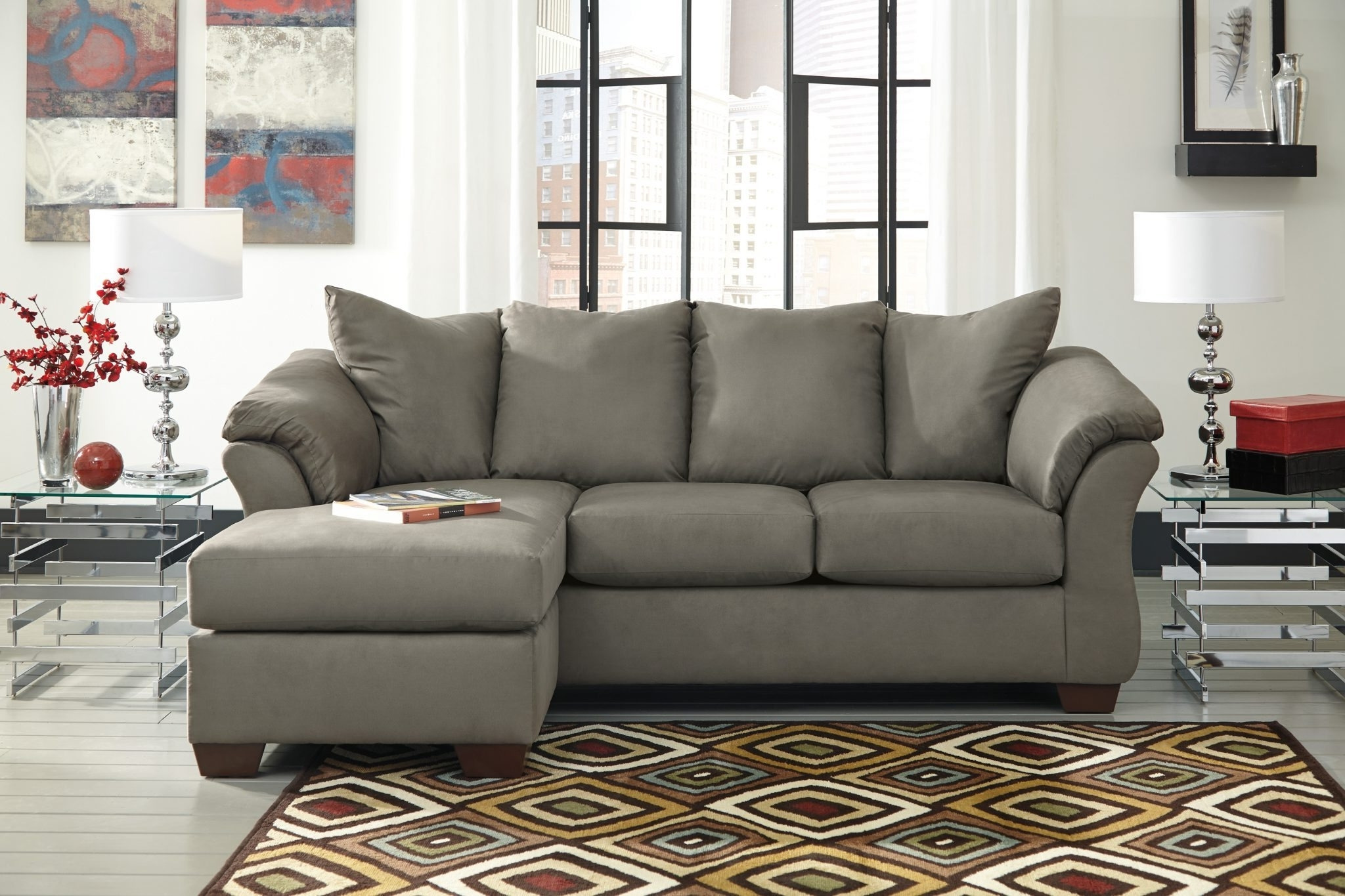 Best Furniture Mentor Oh: Furniture Store – Ashley Furniture In Widely Used Gray Sectionals With Chaise (View 7 of 15)