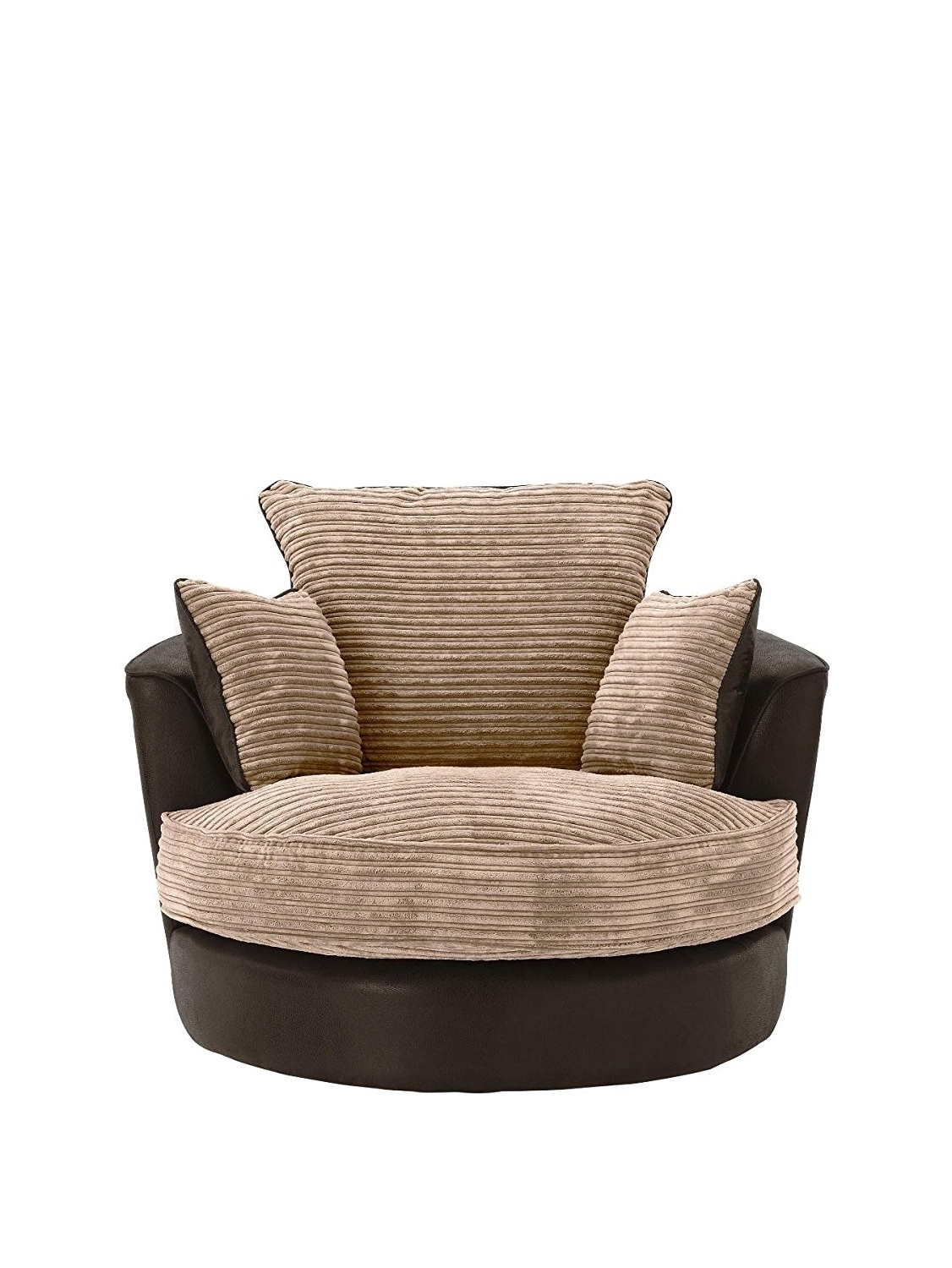 Best Home Chair Decoration For Widely Used Cuddler Swivel Sofa Chairs (View 14 of 15)