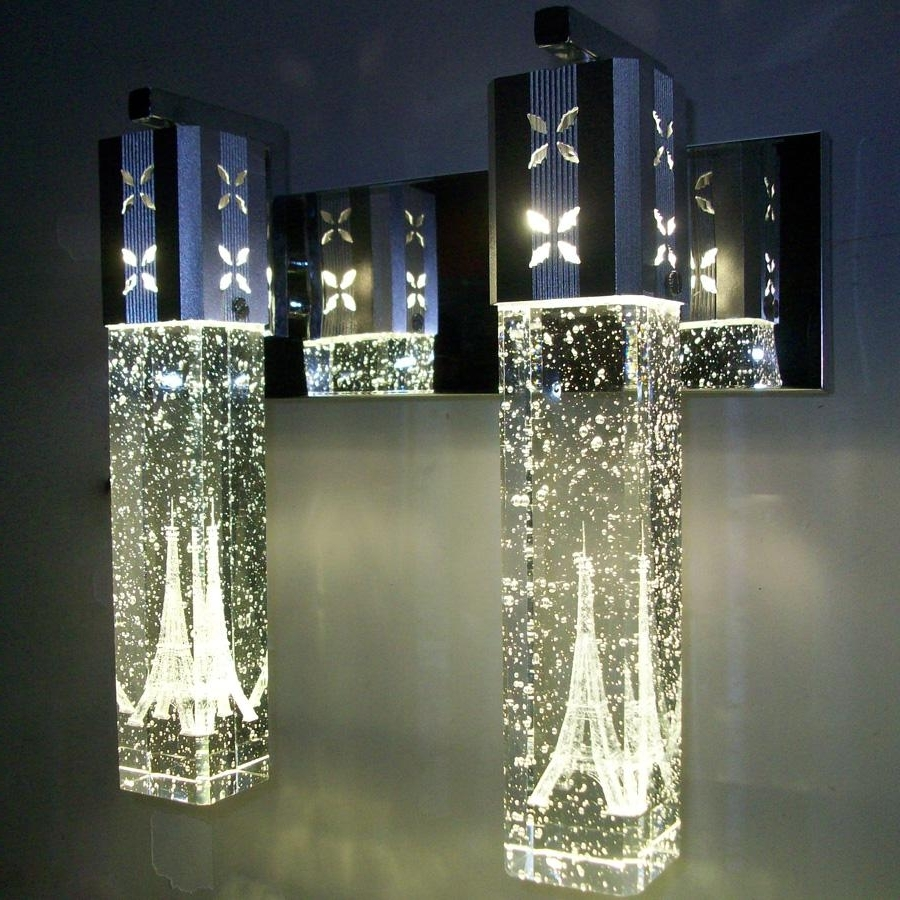 Best New Modern 5W Led Crystal Bubble Wall Lamp Crystal Cylinder Inside Most Recent Chandelier Wall Lights (View 1 of 15)