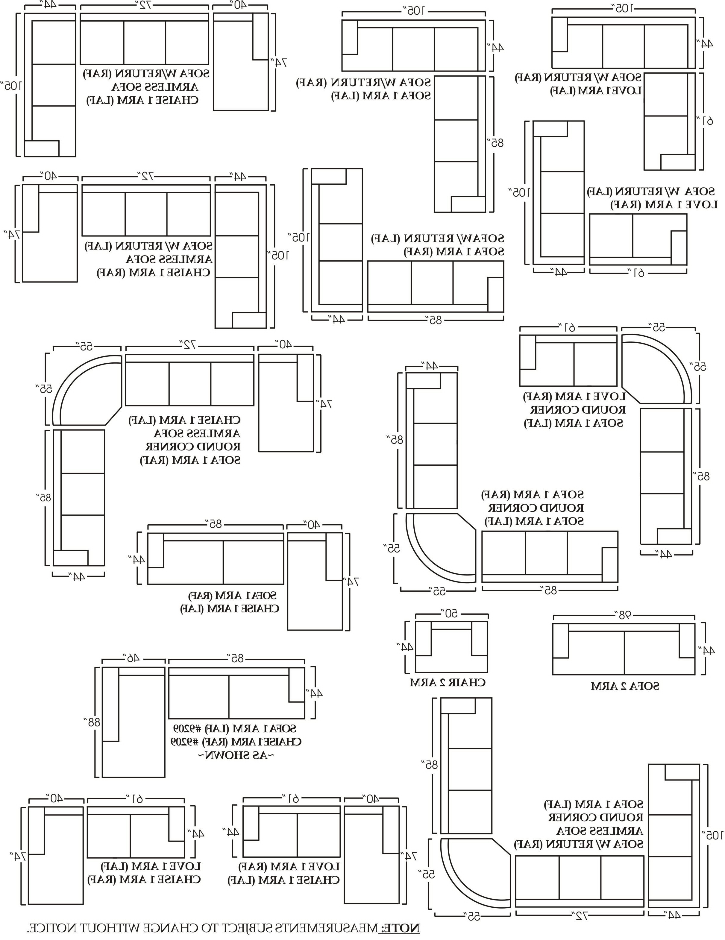 Best Of Sectional Sofa Measurements – Buildsimplehome Within Most Popular Measurements Sectional Sofas (View 4 of 15)