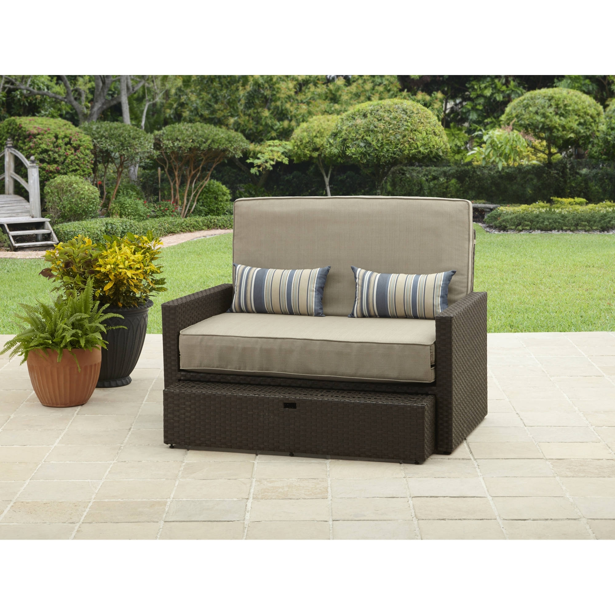 Better Homes And Gardens Avila Beach Loveseat/chaise – Walmart For 2018 Chaise Loveseats (View 12 of 15)