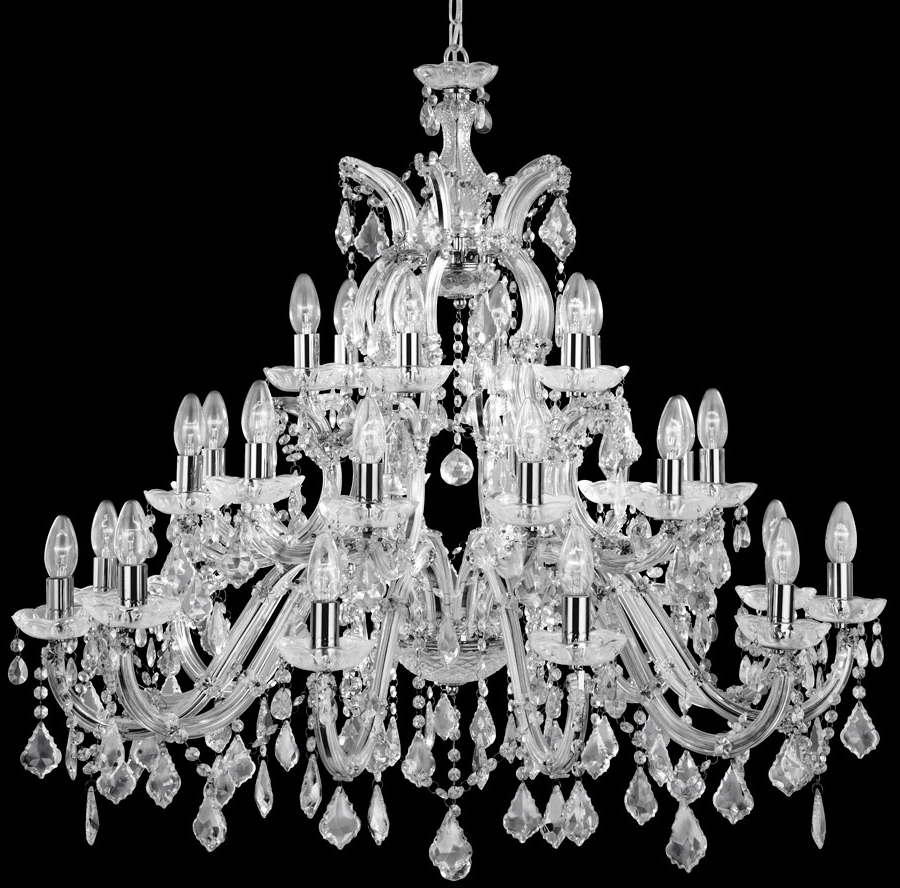 Big Crystal Chandelier For Most Popular Chandelier: Awesome Large Crystal Chandelier Extra Large Crystal (View 14 of 15)