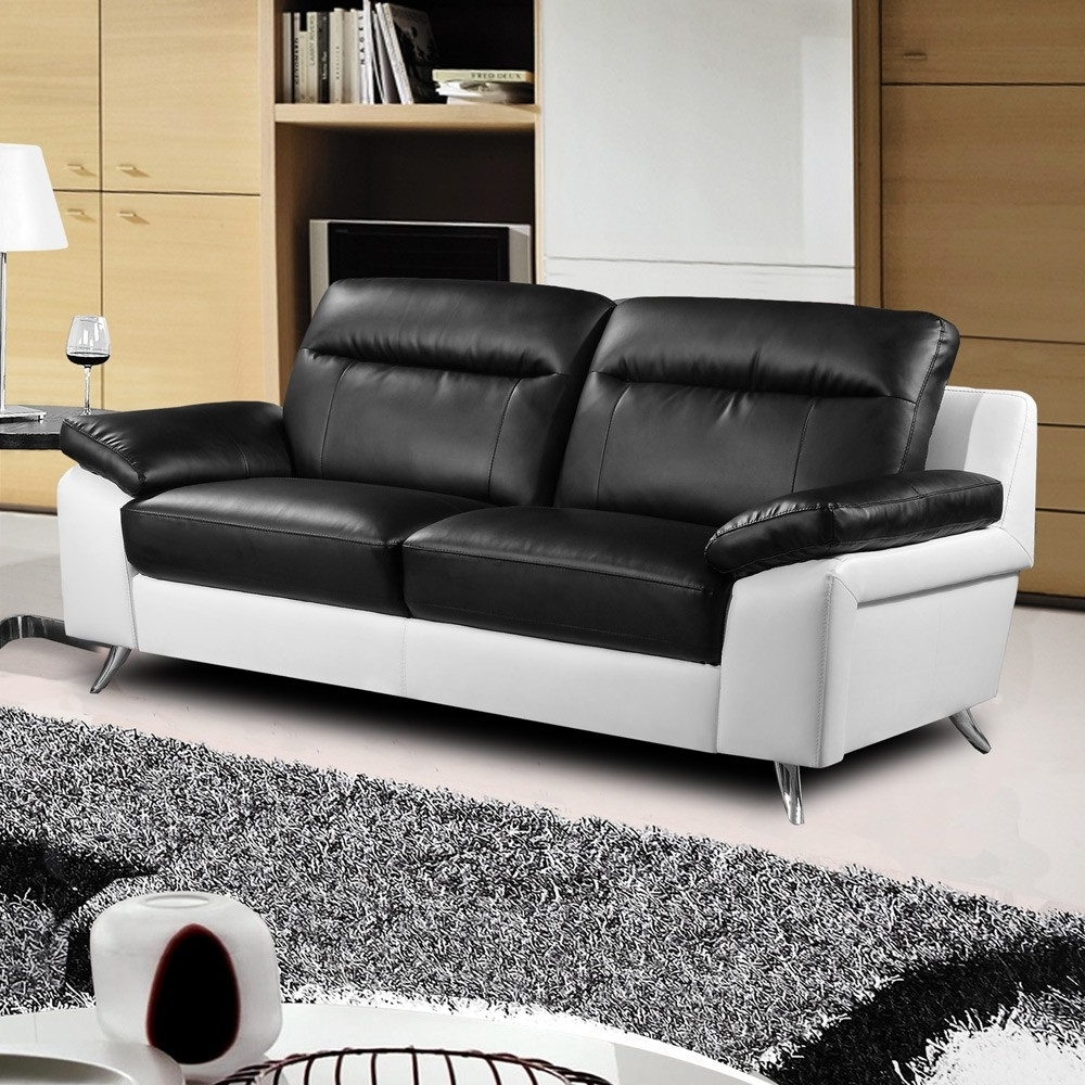 Black And White Sofas With Fashionable Black And White Sofas – Visionexchange (View 6 of 15)