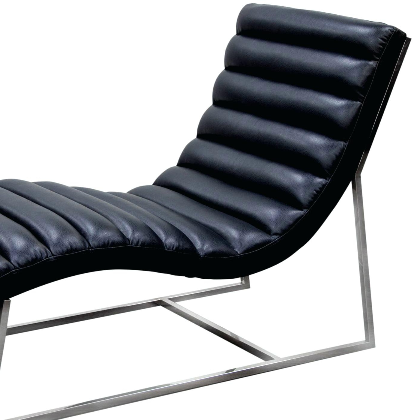 Black Chaise Iron Lounge Chairs Sofa Outdoor – Nikeaf1 In Favorite Damask Chaise Lounge Chairs (View 3 of 15)