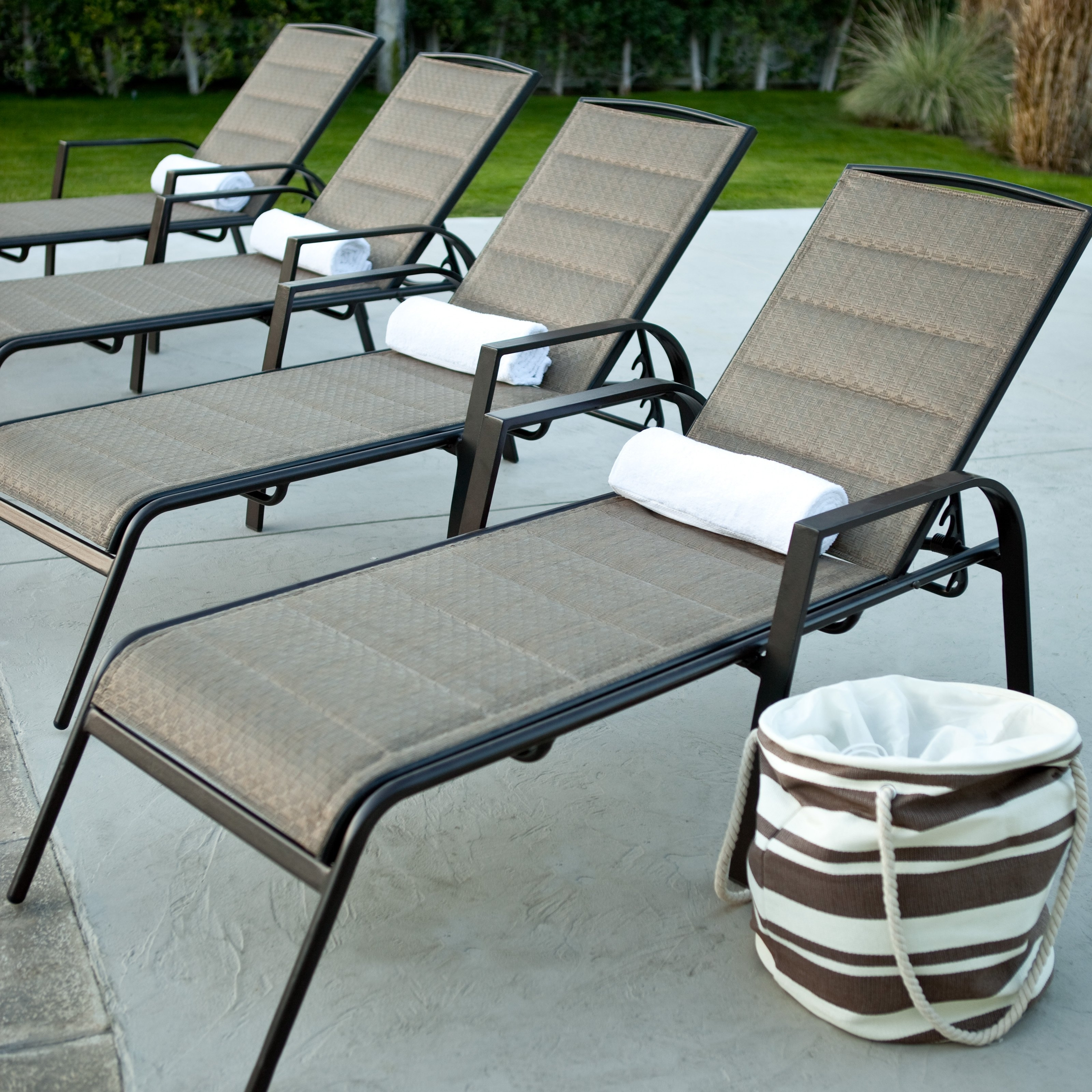Black Chaise Lounge Outdoor Chairs Pertaining To Most Current Furniture : Cozy Aluminum Outdoor Aluminum Furniture With Black (View 13 of 15)
