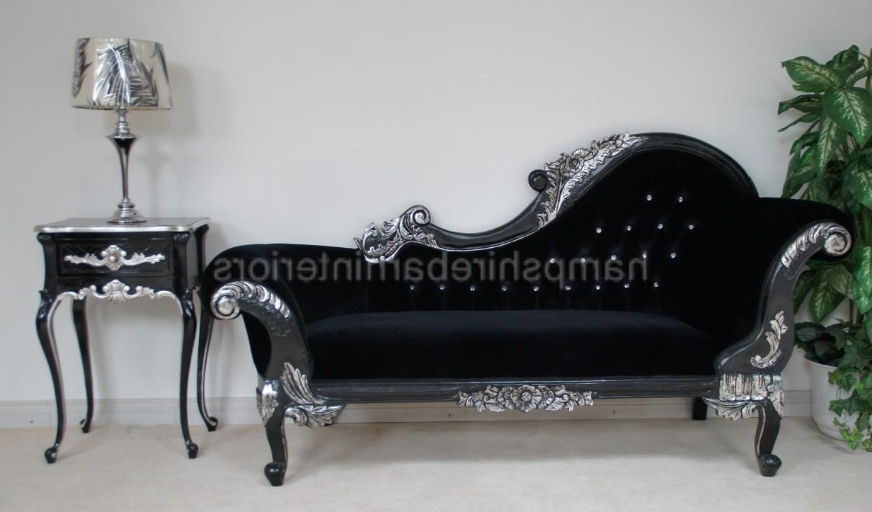 Black Chaises With Regard To Well Known Chaise Crystal (View 15 of 15)