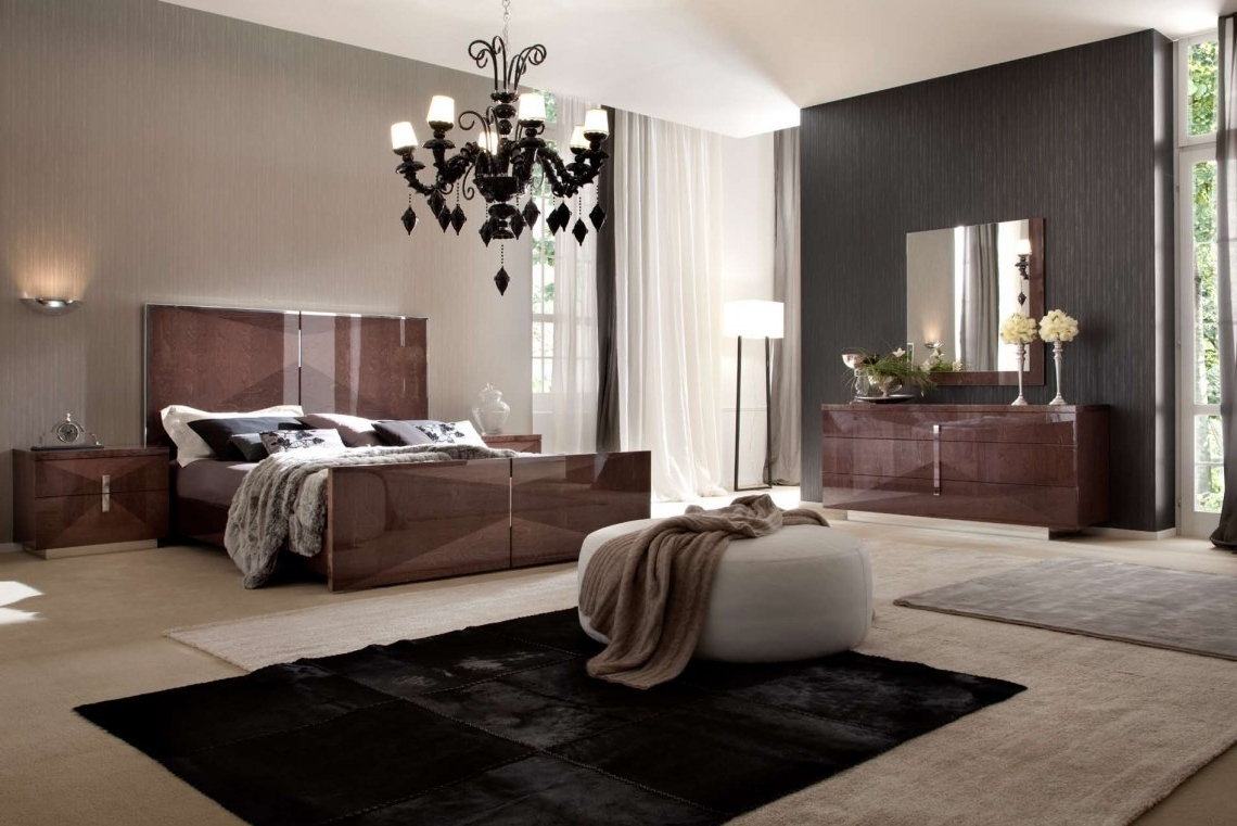Black Chandelier Bedroom Inside Widely Used Classic Black Chandelier Bedroom Furniture In Brown Color For (View 11 of 15)