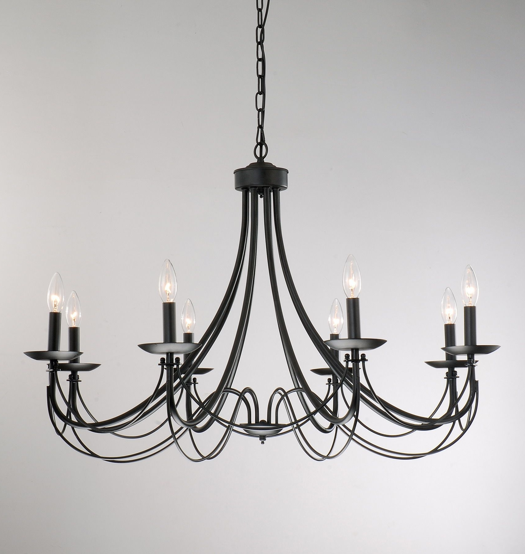 Black Chandelier, Chandeliers And Lights Pertaining To Black Iron Chandeliers (View 11 of 15)