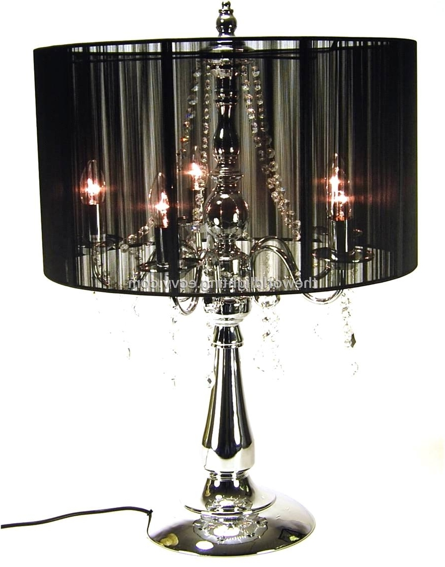Black Chandelier Standing Lamps Within Most Popular Chandeliers ~ Standing Chandelier Floor Lamp  Beds, Frames Bases (View 5 of 15)
