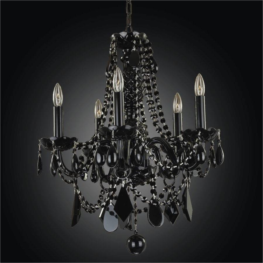 Black Crystal Chandeliers (View 12 of 15)