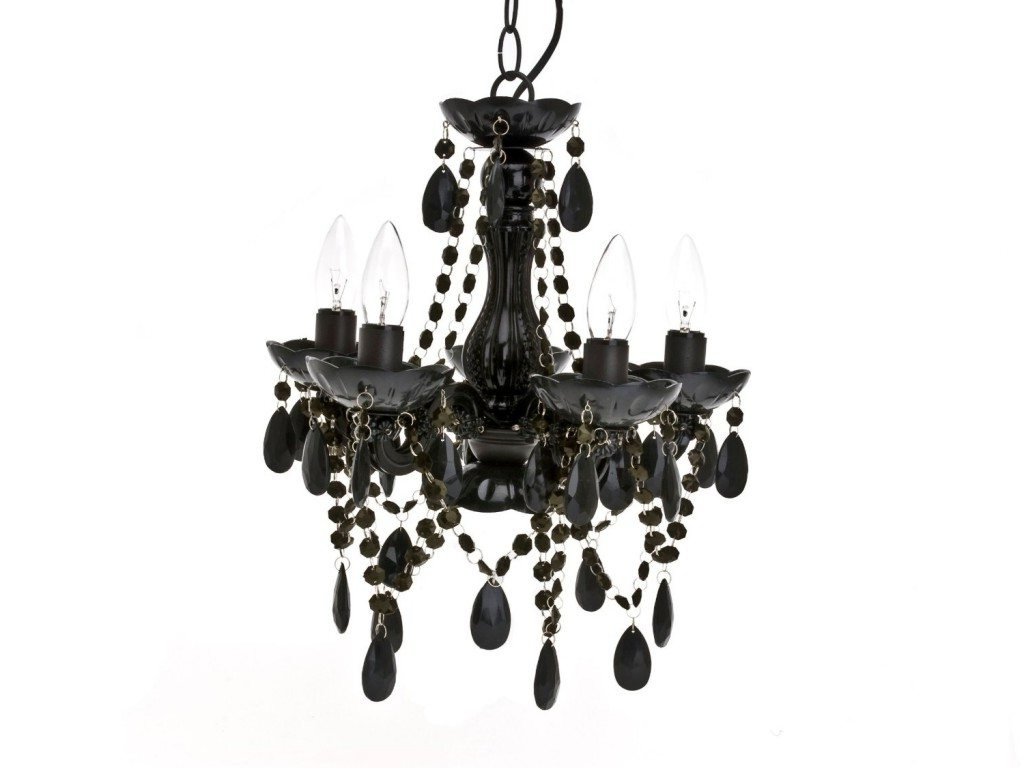 Black Glass Chandelier Pertaining To 2018 Black Chandeliers & Pendant Lighting (View 10 of 15)