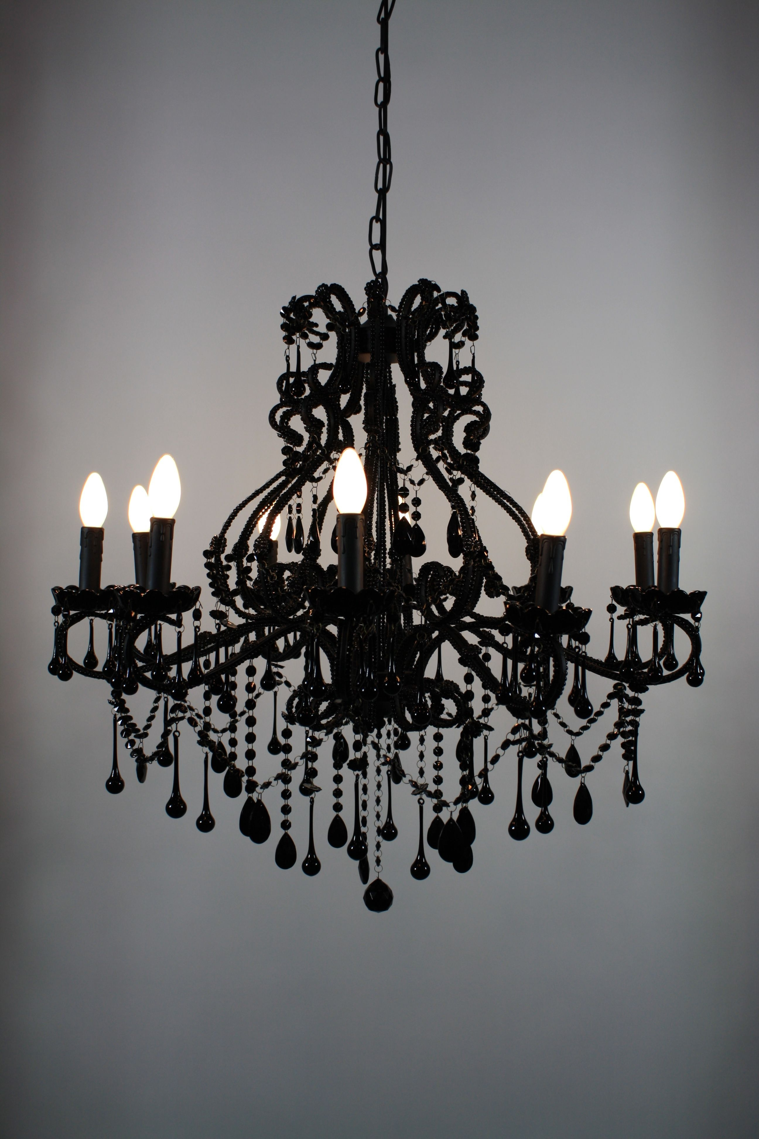 Black Gothic Chandelier within Well-known Goth Chandelier! - Black Vintage Chandelier