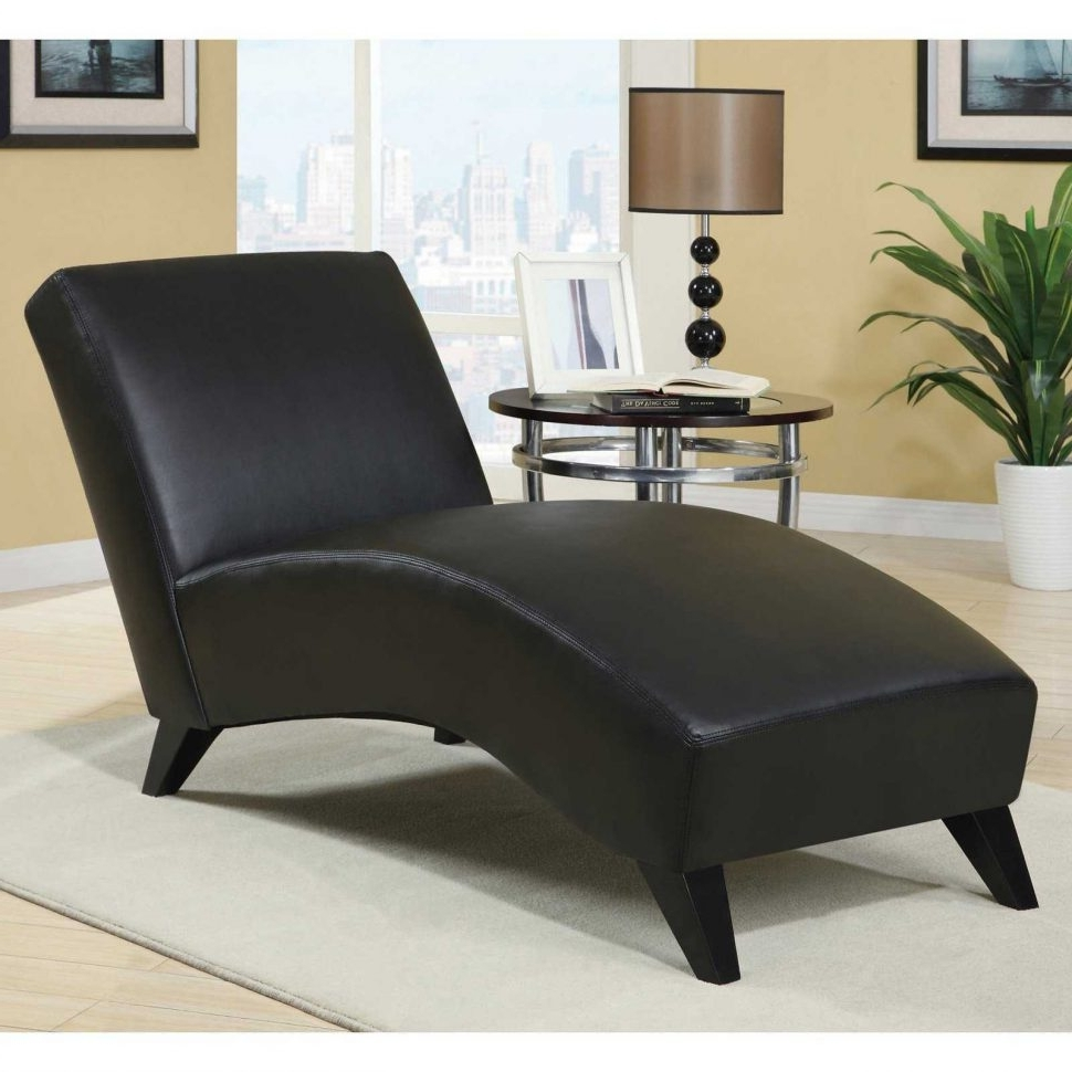 Black Leather Chaise Lounge Chairs For Preferred Convertible Chair : Living Room Chaise For Sale Large Oversized (View 14 of 15)