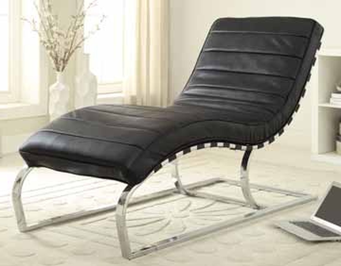 Black Leather Chaise Lounge – Steal A Sofa Furniture Outlet Los In Popular Black Leather Chaises (View 2 of 15)