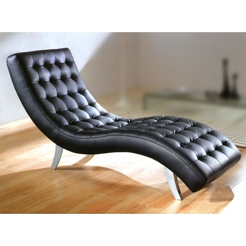 Black Leather Chaises Regarding Well Known Creative Of Black Leather Chaise Lounge With 1000 Images About (View 5 of 15)