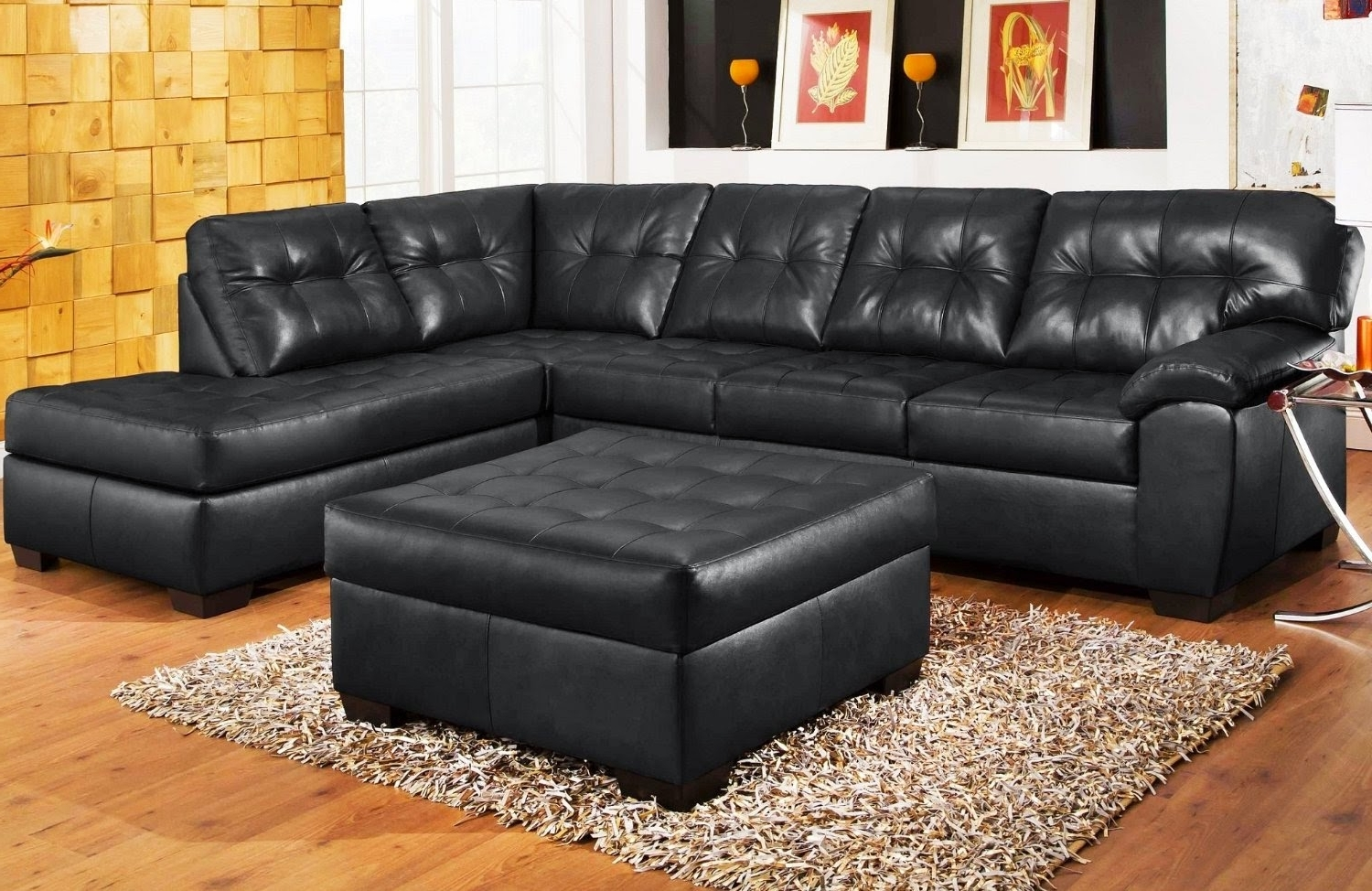 Black Leather Sectional Sofa – Visionexchange (View 3 of 15)