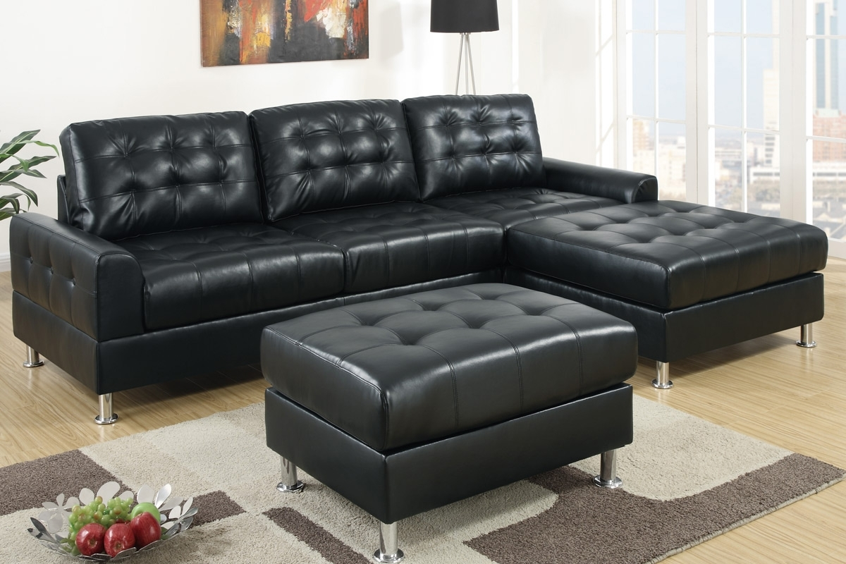 Black Leather Sectionals With Chaise With Most Current Sofa ~ Luxury Black Leather Sectional Sofa Left Side Chaise (View 4 of 15)