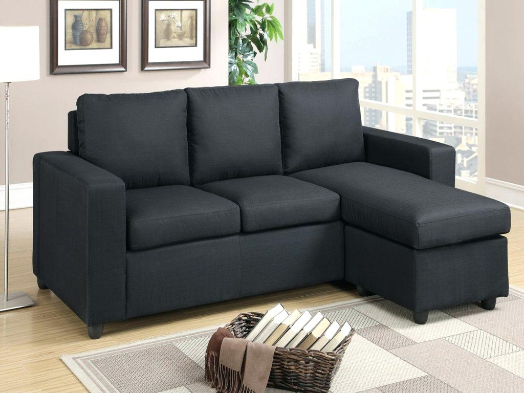 Black Sectional Couch Microfiber Sofa With Chaise Leather Cheap Pertaining To Recent Cheap Black Sofas (View 4 of 15)