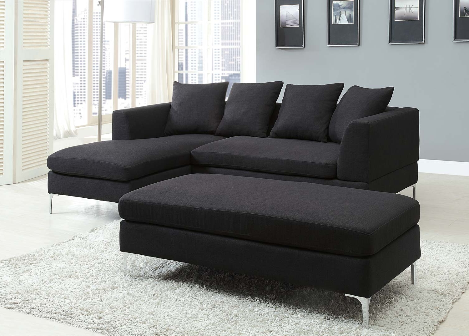 Black Sectional Sofas With Current Black Sectional Couch Cheap — Radionigerialagos (View 7 of 15)