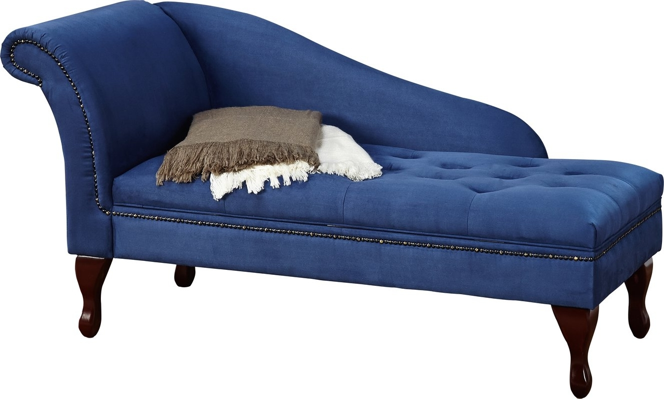 Blue Chaises With Regard To Recent Willa Arlo Interiors Boydston Storage Chaise Lounge & Reviews (View 6 of 15)