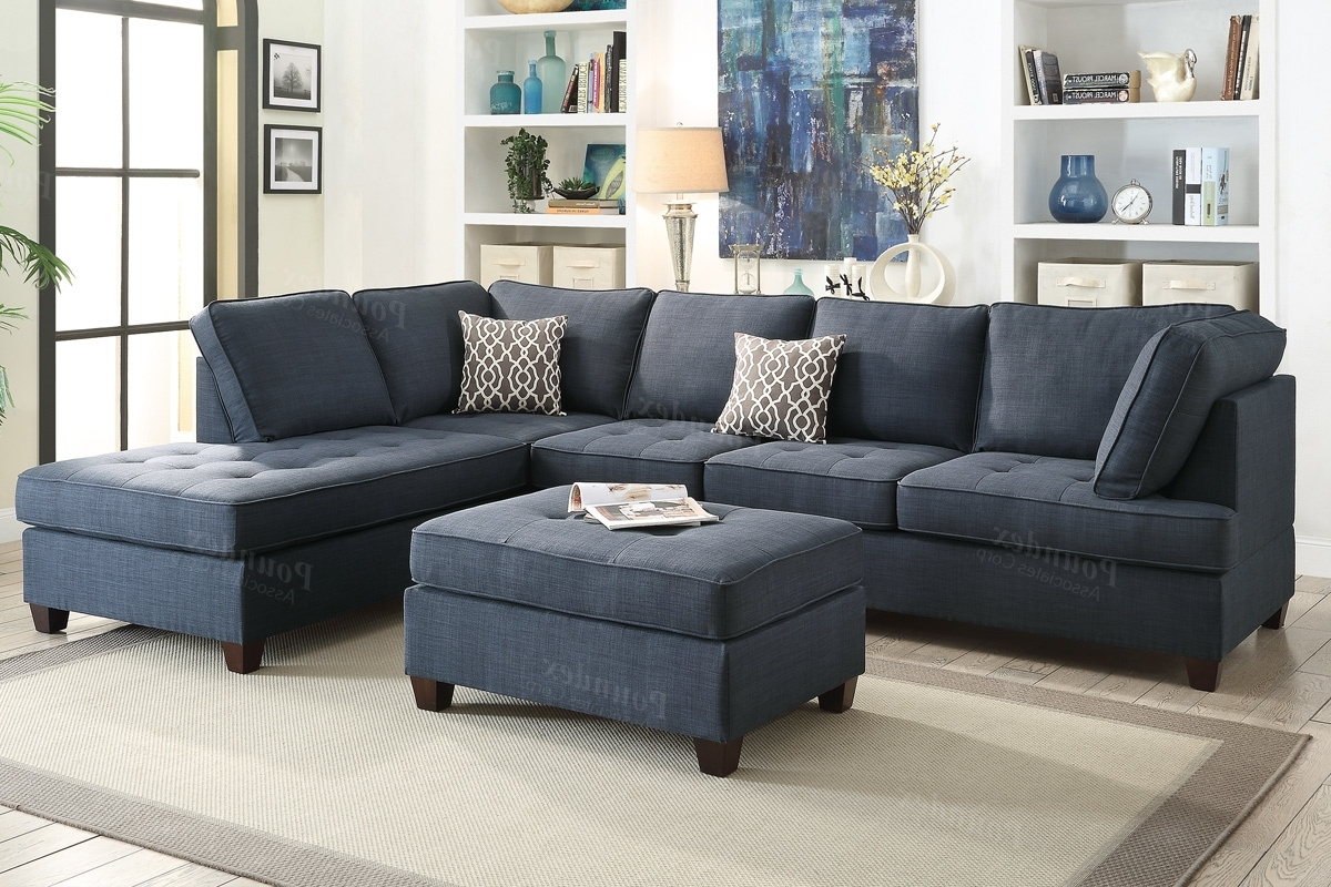 Blue Fabric Sectional Sofa – Steal A Sofa Furniture Outlet Los Inside Most Recently Released Los Angeles Sectional Sofas (View 3 of 15)