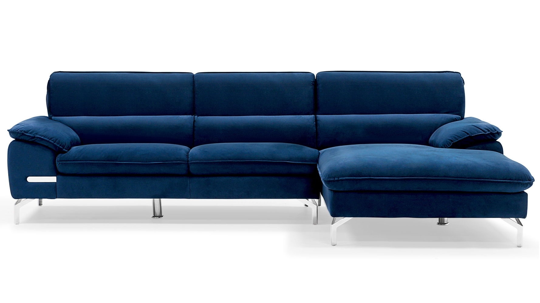 Blue Sectional Sofas With Chaise In 2018 Sapphire Blue Sectional Set With Chaise (View 4 of 15)