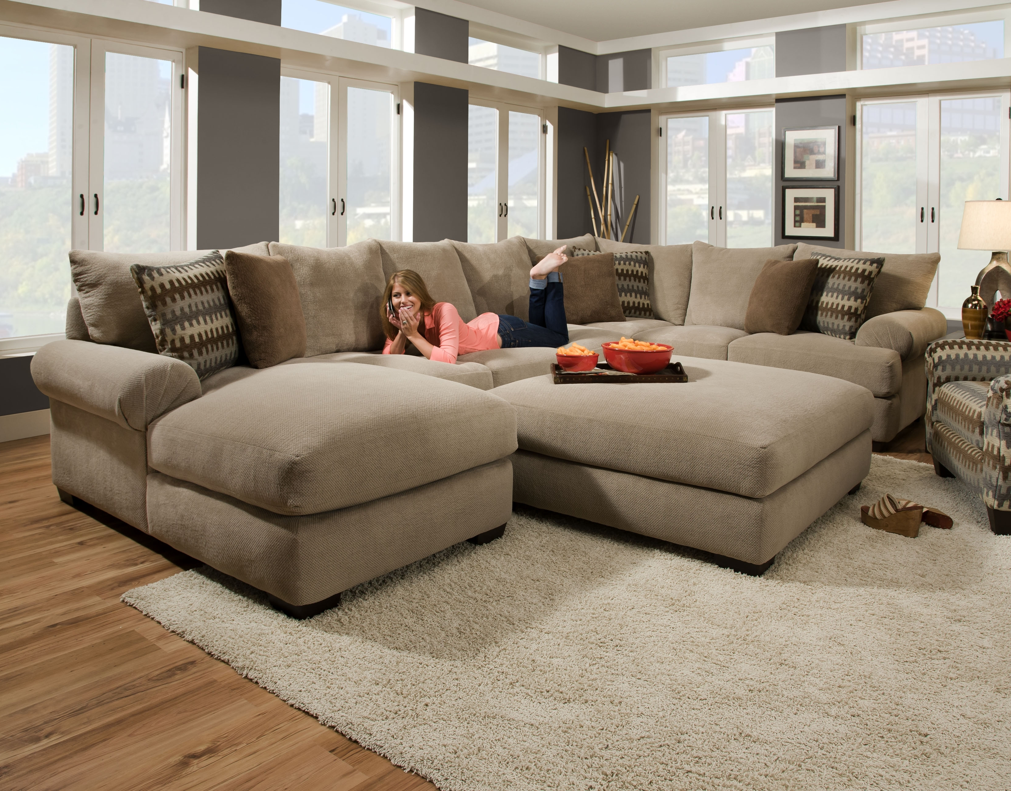 Bocha Stone 3Pc Intended For 2018 Layaway Sectional Sofas (View 6 of 15)