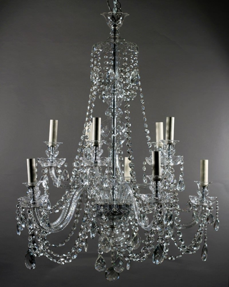 Branch Crystal Chandelier pertaining to Preferred Crystal Chandelier, 10 Branch Antique Bohemian Crystal Chandelier