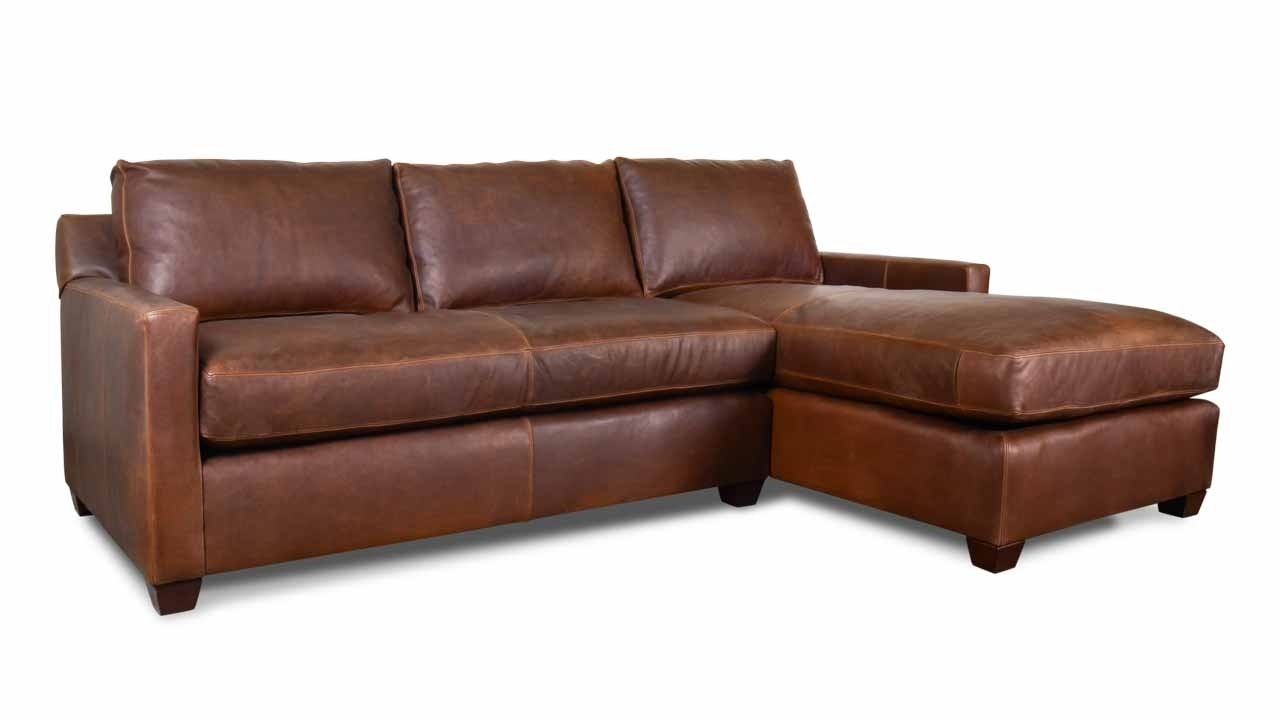 Brevard Single Chaise Leather Sectional – Made In Usa (View 2 of 15)
