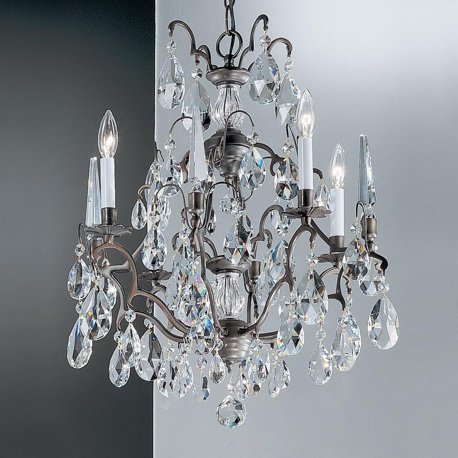 Bronze And Crystal Chandeliers Within Best And Newest Shop Classic Lighting Versailles 4 Light Antique Bronze Crystal (View 11 of 15)