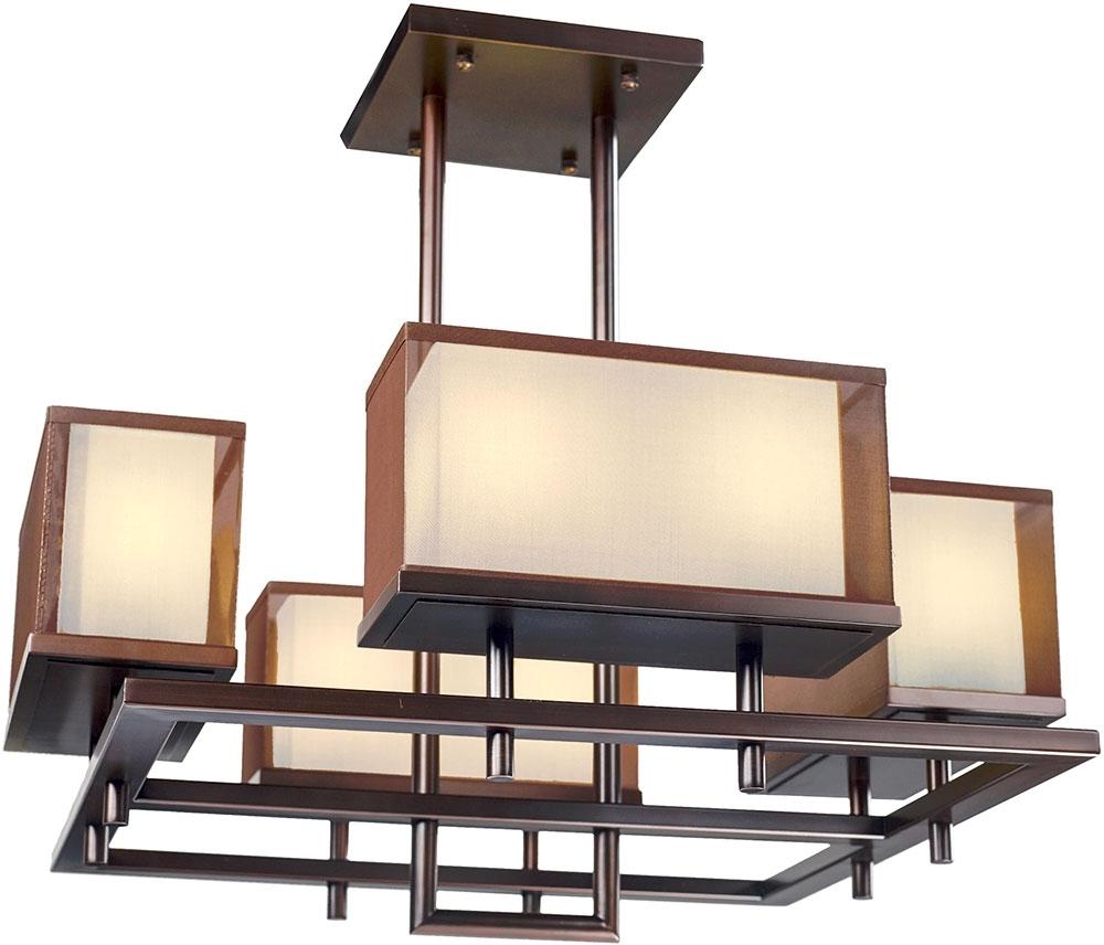 "Bronze Modern Chandelier Regarding Well Liked Maxim 43446Csoi Hennesy Modern Oil Rubbed Bronze Led 42"" Chandelier (View 3 of 15)"