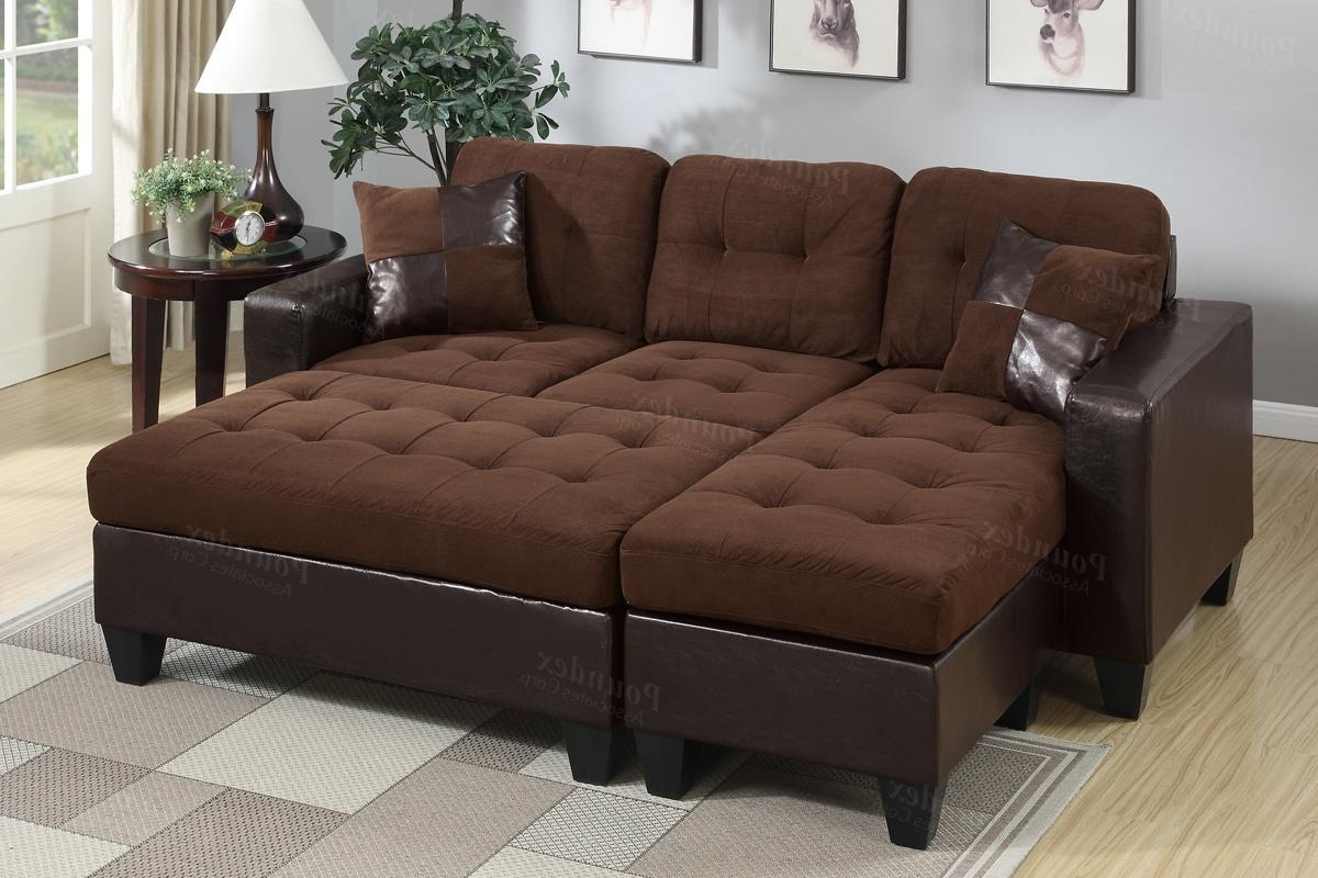 Brown Leather Sectional Sofa And Ottoman – Steal A Sofa Furniture Intended For Current Sofas With Chaise And Ottoman (View 3 of 15)
