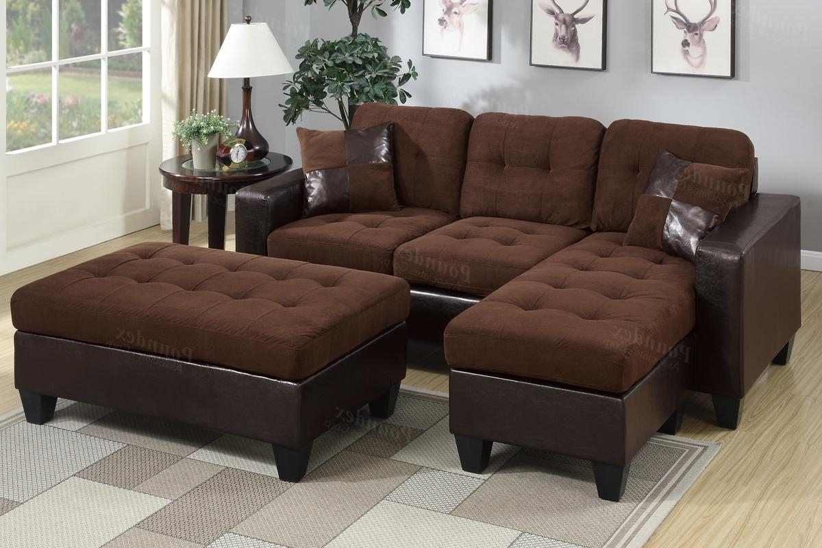 Brown Leather Sectional Sofa And Ottoman – Steal A Sofa Furniture With Regard To Best And Newest Leather Sectionals With Ottoman (View 4 of 15)