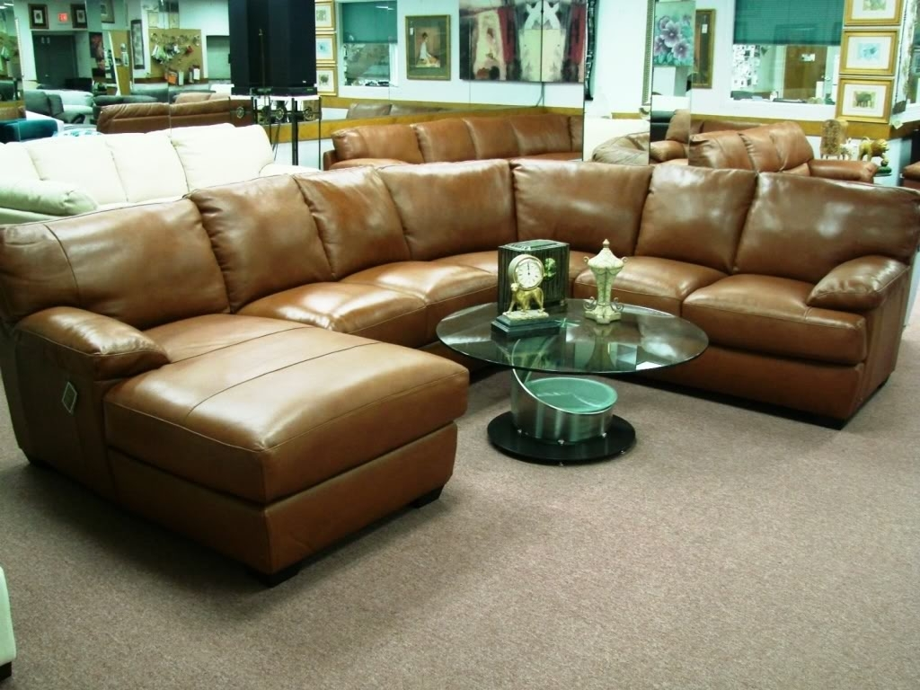 Brown Leather Sectional Sofa Clearance – Radiovannes Pertaining To Widely Used Clearance Sectional Sofas (View 3 of 15)