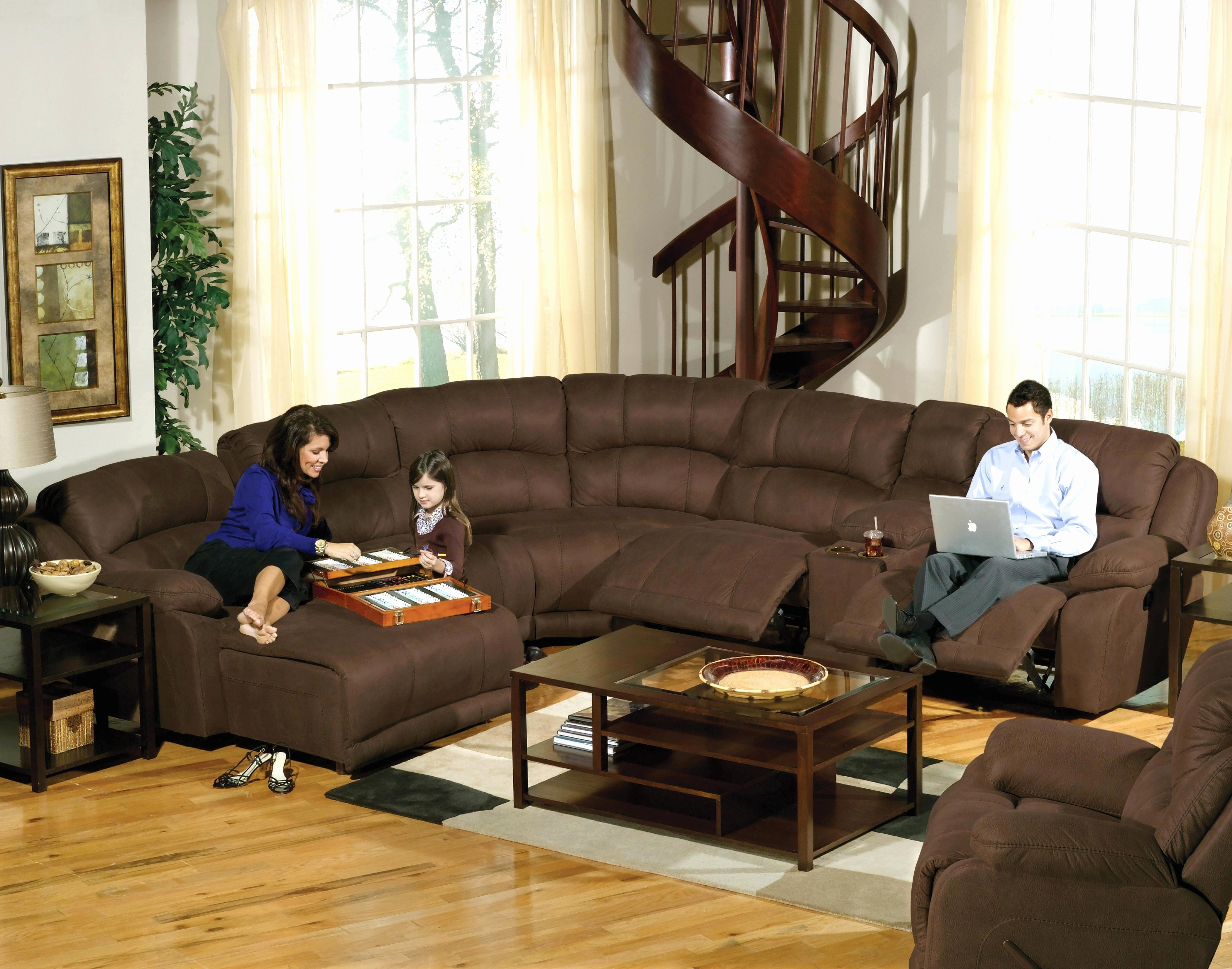 Brown Sectionals With Chaise Regarding Favorite Fresh Microfiber Reclining Sectional 2018 – Couches And Sofas Ideas (View 5 of 15)