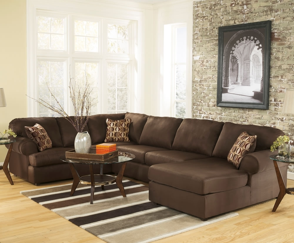 Brown U Shaped Sectional Sofa All About House Design : U Shaped Within Most Recently Released U Shaped Sectional Sofas (View 1 of 15)