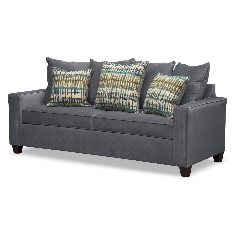 Bryden Queen Memory Foam Sleeper Sofa – Slate (View 2 of 15)