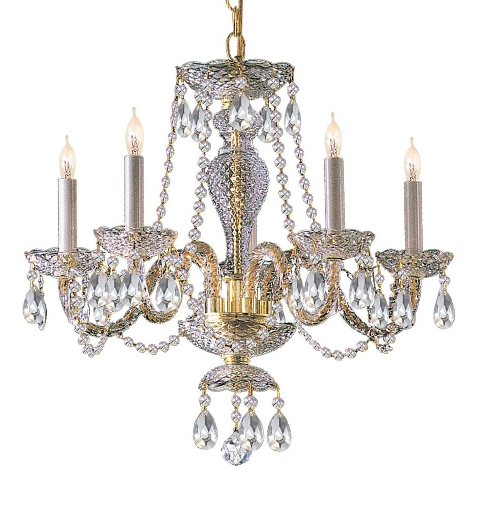 Buy 10 Lights Polished Br Crystal Chandelier Bedroom Armoires Dining Throughout Most Recent Brass And Crystal Chandelier (View 3 of 15)