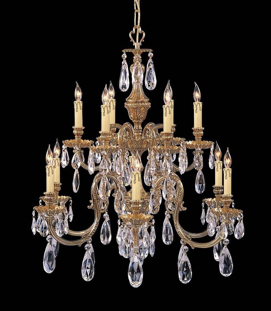 Buy 8 Lights Antique Brass Chandelier Accented W Crystal With Popular Crystal And Brass Chandelier (View 11 of 15)