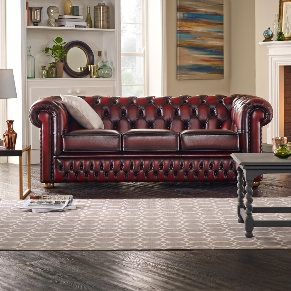 Buy A 3 Seater Chesterfield Sofa At Sofassaxon Regarding Newest Chesterfield Sofas (View 3 of 15)