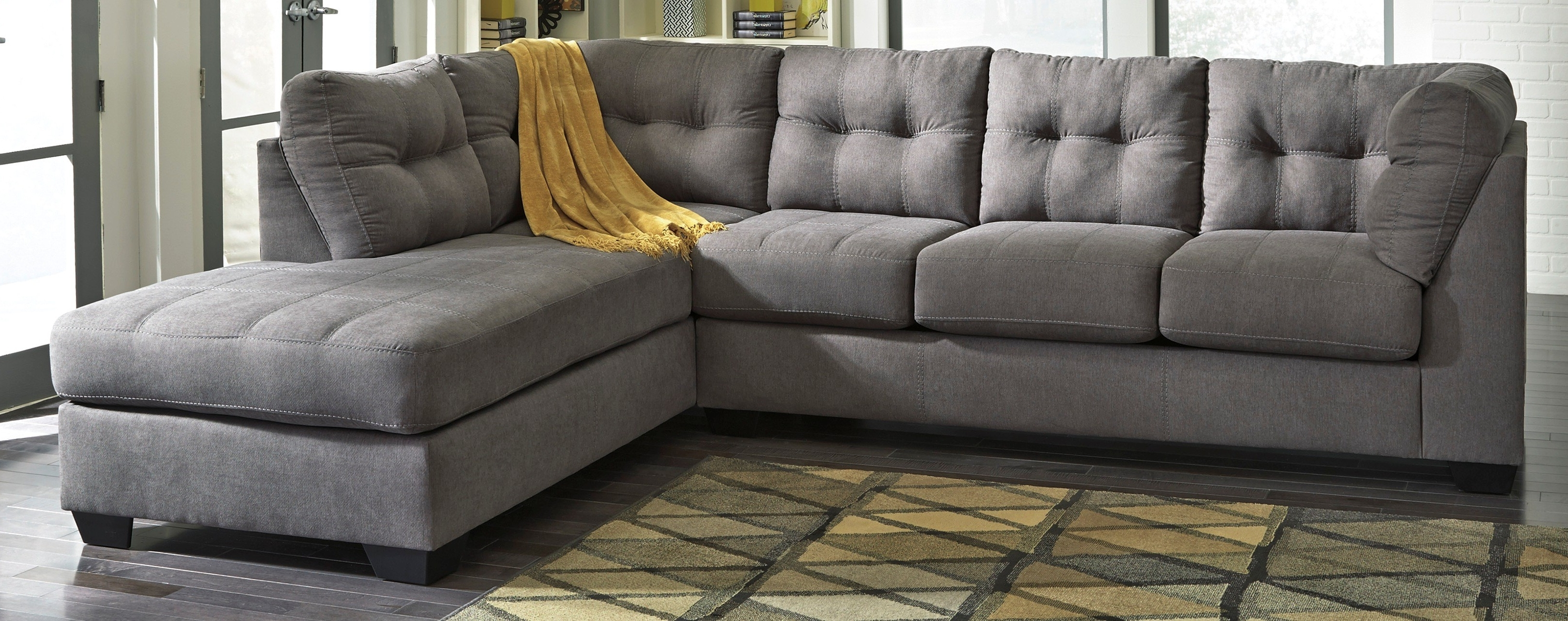 Buy Ashley Furniture 4520066 4520017 Maier Charcoal Raf Corner In Recent Ashley Furniture Sectionals With Chaise (View 14 of 15)