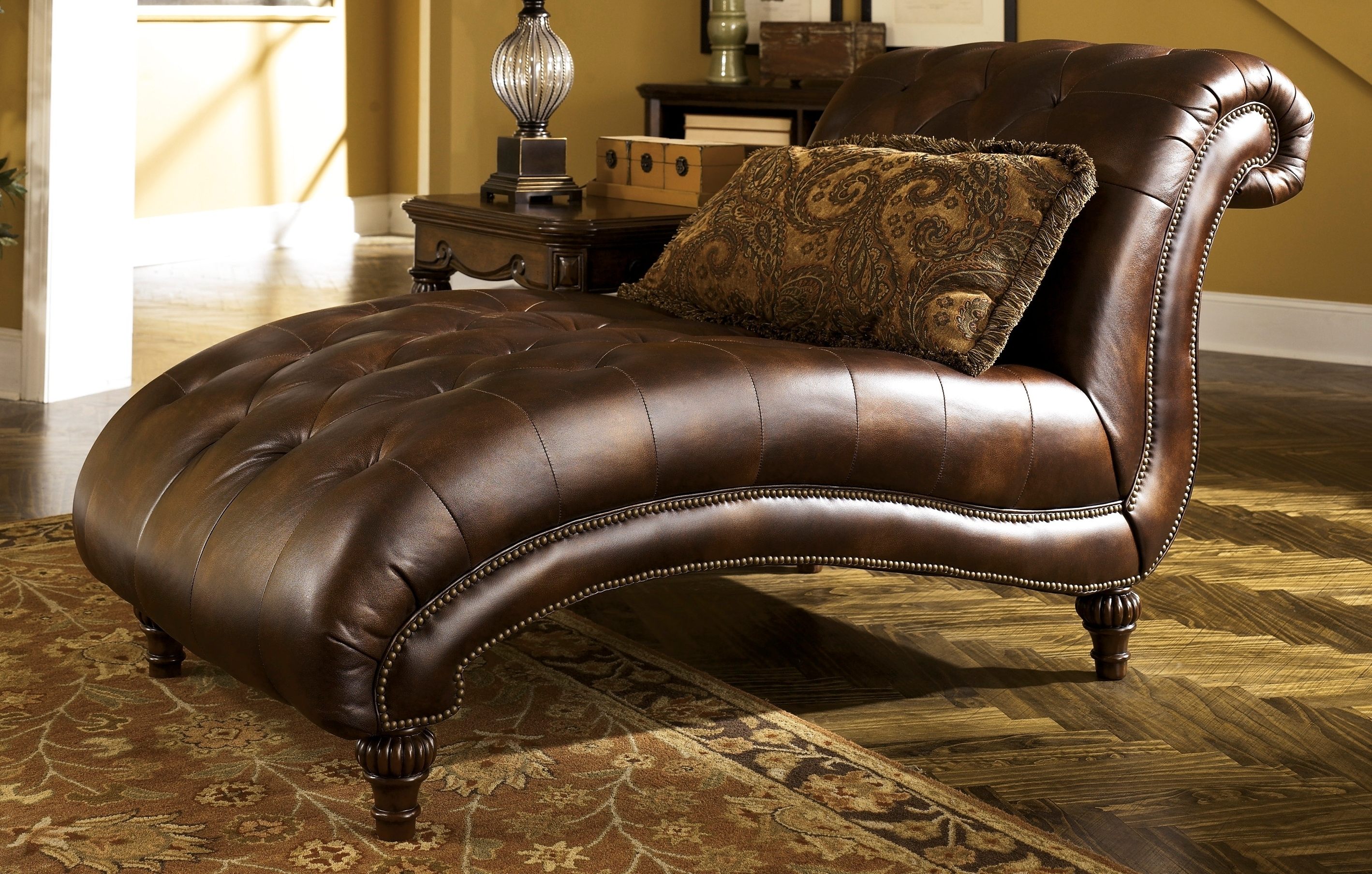 Buy Ashley Furniture 8430315 Claremore Antique Chaise With Recent Ashley Furniture Chaise Lounge Chairs (View 10 of 15)