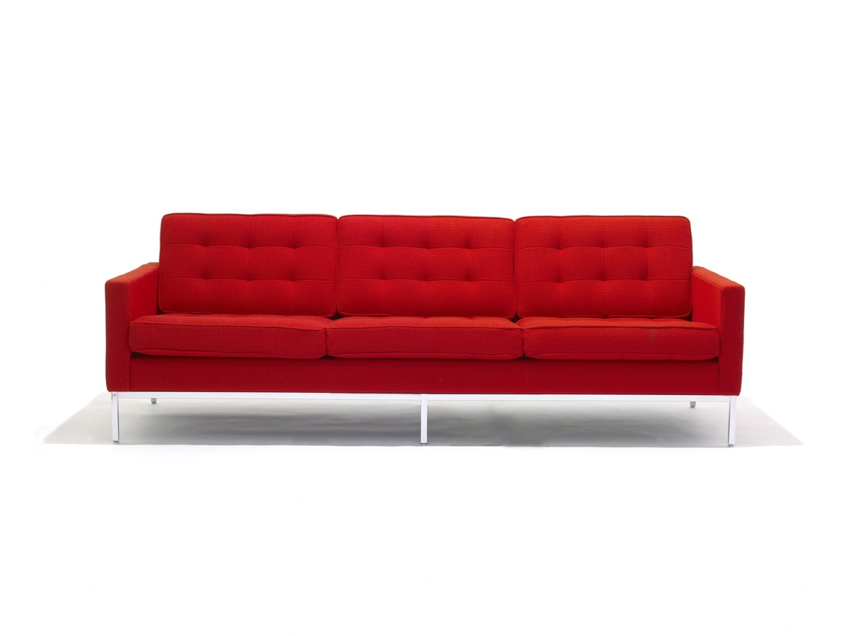 Buy The Knoll Studio Knoll Florence Knoll Three Seater Sofa At For Trendy Florence Knoll Wood Legs Sofas (View 4 of 15)