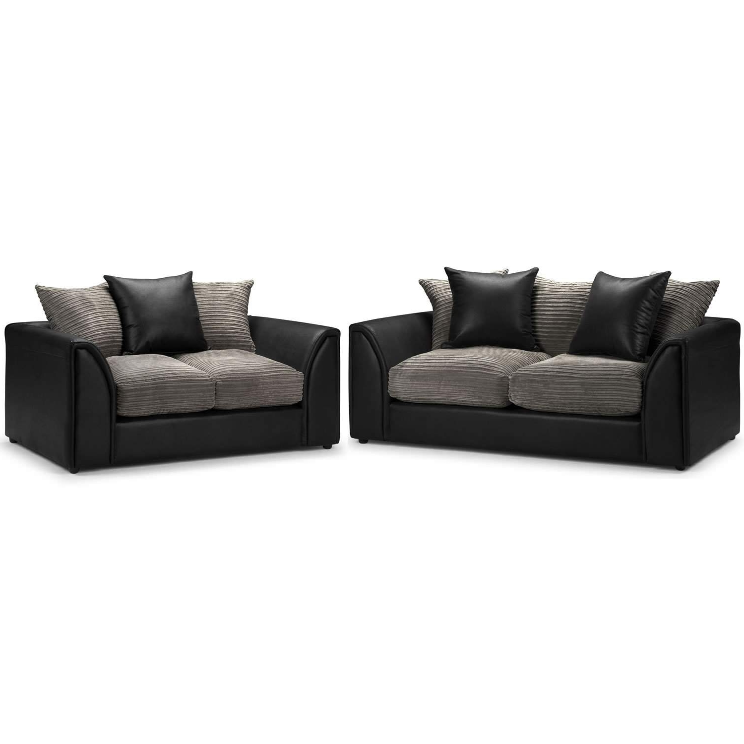 Byron 3 And 2 Seater Sofa Suite – Next Day Delivery Byron 3 And 2 For 2018 Black 2 Seater Sofas (View 8 of 15)