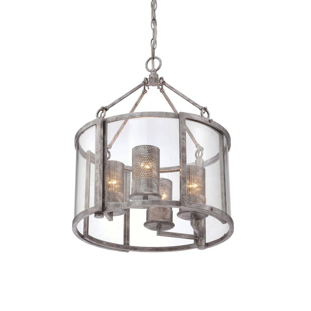 Cage Chandeliers Intended For Most Current Varaluz Jackson 4 Light Antique Silver Chandelier With Arched (View 14 of 15)