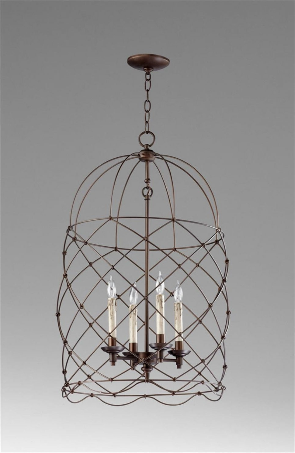 Cage Chandeliers Pertaining To Widely Used Chandeliers Design : Magnificent Cage Chandelier Lighting Currey (View 5 of 15)