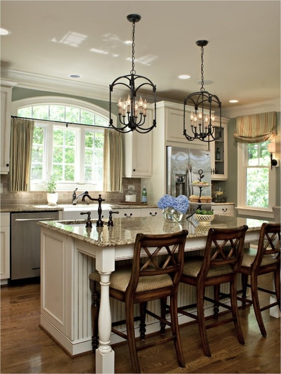 Caged Chandelier In Newest Marvellous Design Kitchen Island Lighting Ideas With Black Pottery (View 5 of 15)
