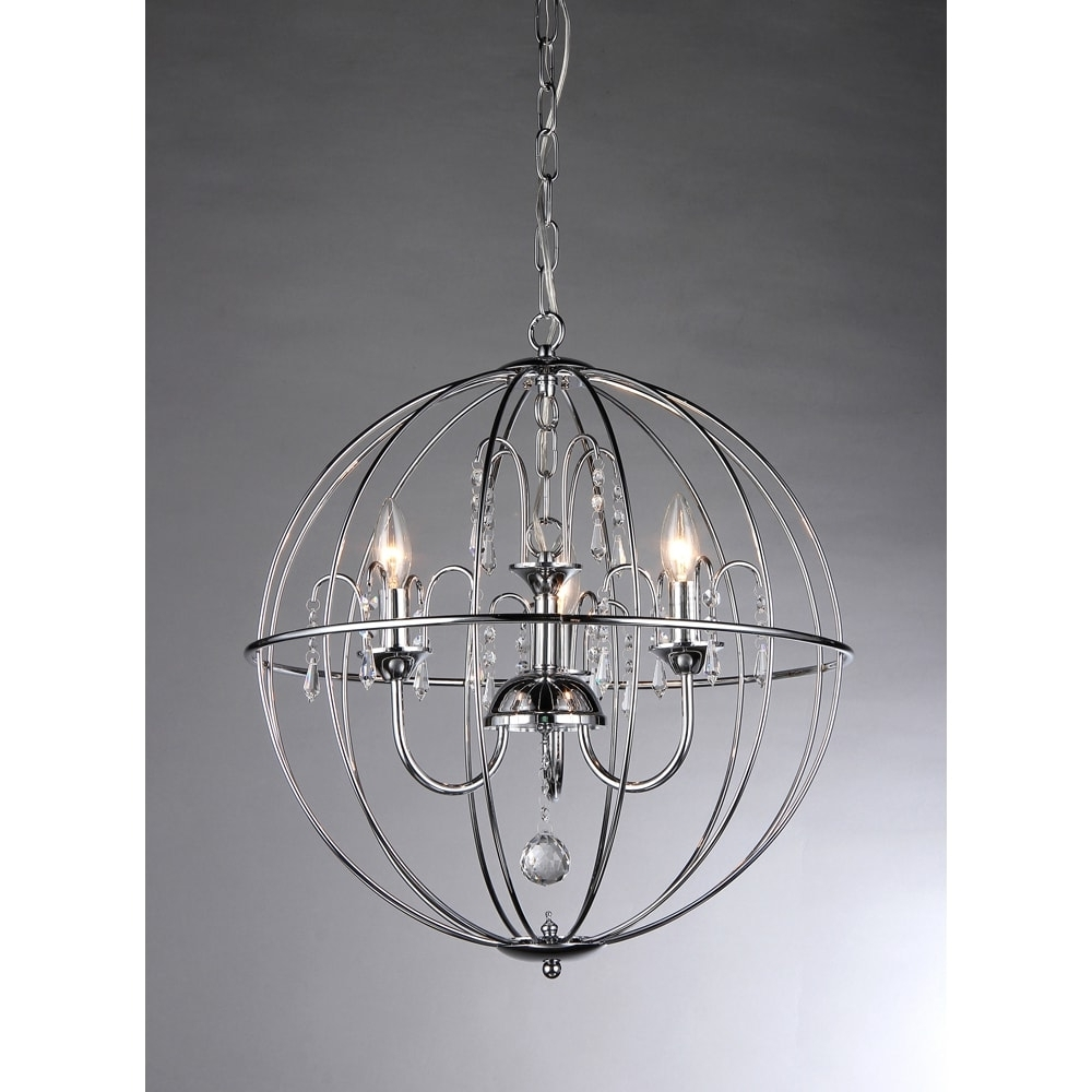 Caged Chandelier Pertaining To Best And Newest Crystal Cage Chandelier – Free Shipping Today – Overstock – (View 1 of 15)