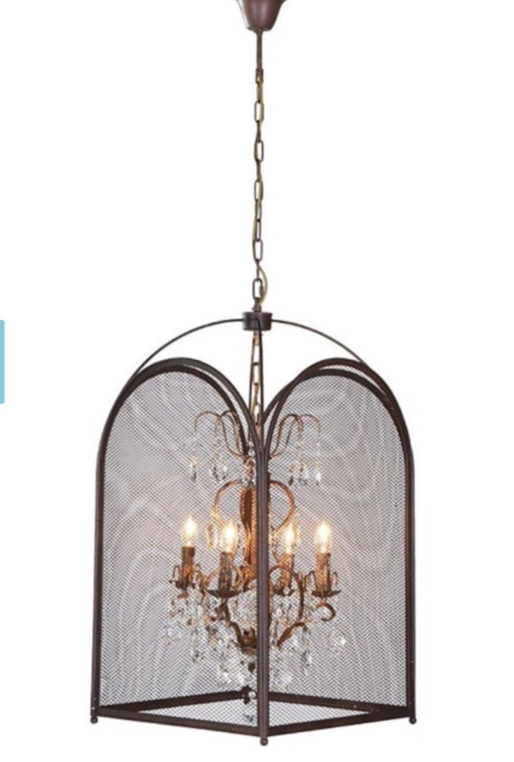 Caged Chandelier Within Favorite Large Statement Birdcage Vintage Industrial Shabby Chic Caged (View 7 of 15)